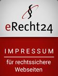 erecht24 siegel impressum rot